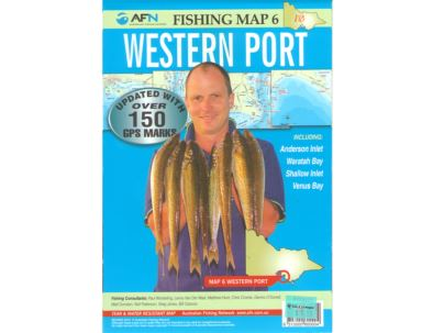 Fishing map 6 western port compleat angler melbourne for Fishing guide salary
